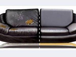 Перетяжка кожаного дивана в Самаре