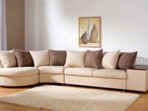 Перетяжка углового дивана на дому в Самаре
